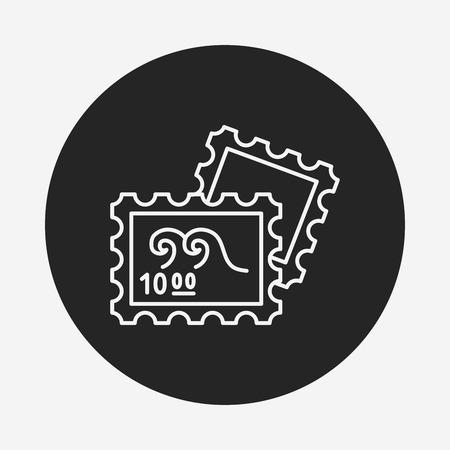 cobrar: recoger icono de l�nea de timbre