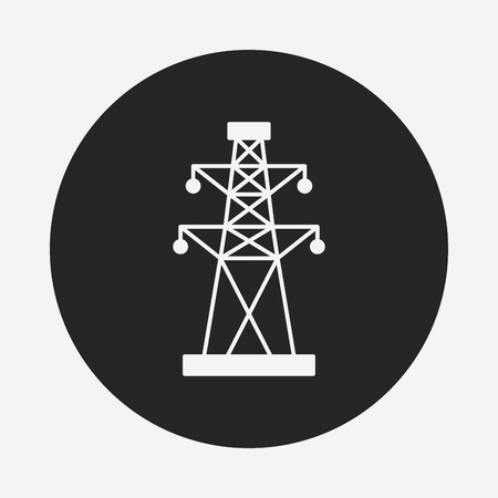 powerlines: Electric Tower icon Illustration