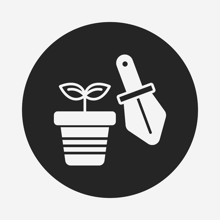 potted: Potted plants icon Illustration