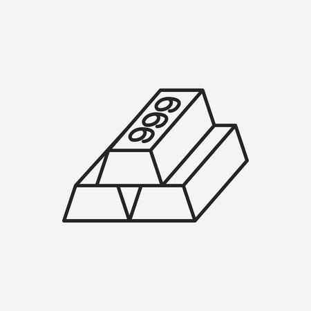 bullion: Gold bullion line icon