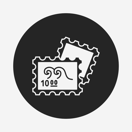 to collect: collect stamp icon