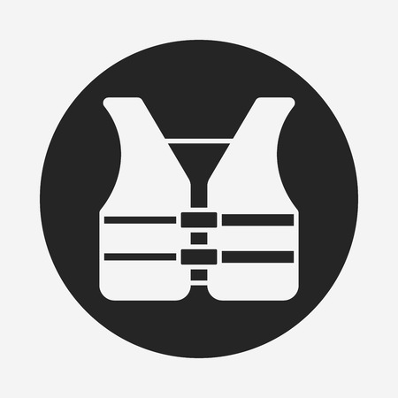 car clothes: safety vest icon