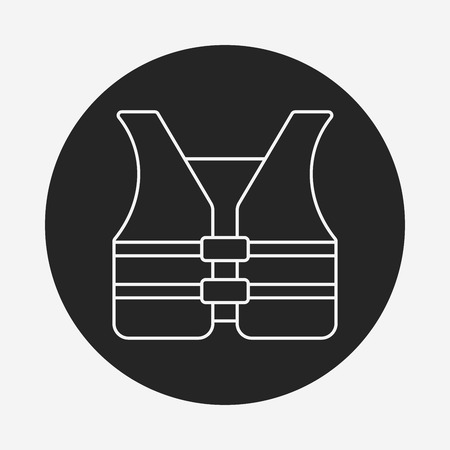 the vest: safety vest line icon