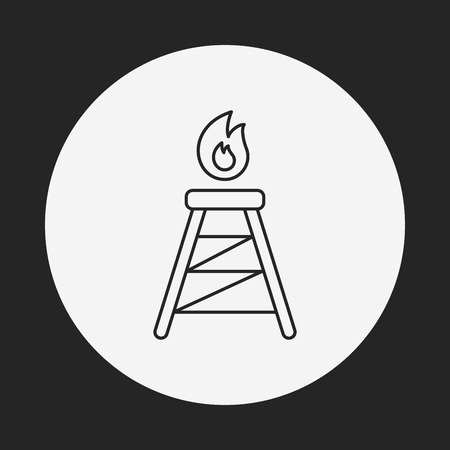 electrical tower: Electric Tower line icon Illustration
