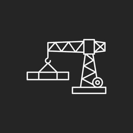 hoist: Crane line icon