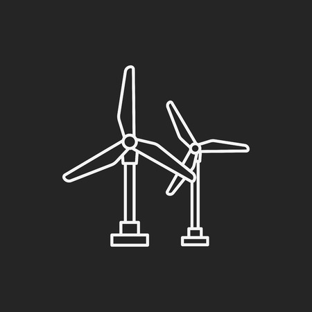 wind energy: wind energy line icon