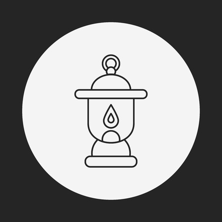 kerosene: camping light line icon