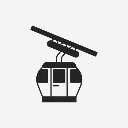 cable car: cable car icon Illustration
