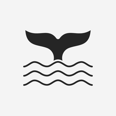 ballena: Icono de la ballena Vectores