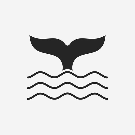 fish tail: Whale icon Illustration