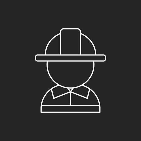 mujer trabajadora: Icono de l�nea de Ocupaci�n Vectores
