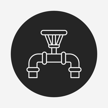 drains: Water pipe line icon