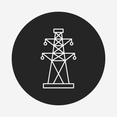 Electric Tower line icon Illustration