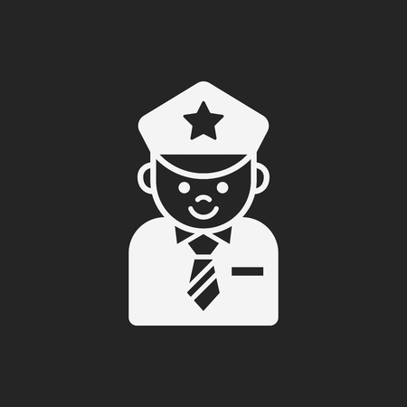 cartoon police officer: Occupation icon Illustration