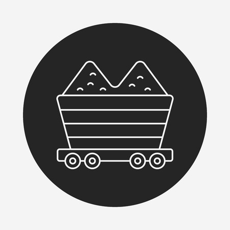 relocate: barrow line icon Illustration