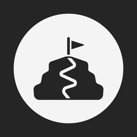 mountain top: mountain top icon
