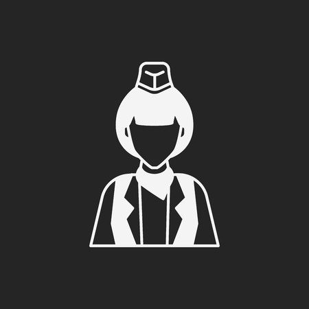 silhouettes people: Occupation icon Illustration