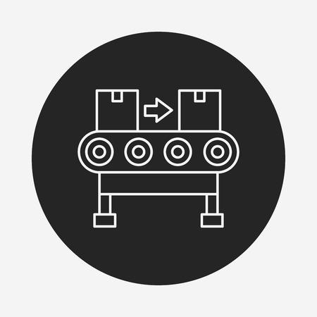 conveyor: Cargo conveyor line icon Illustration