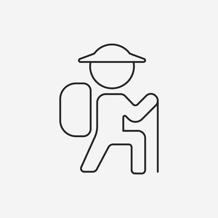 climbing line icon Illustration