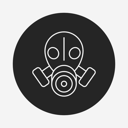 army gas mask: Gas masks line icon Illustration