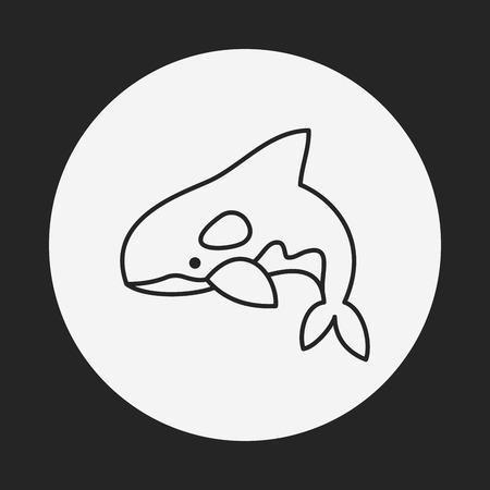 danger to life: shark line icon