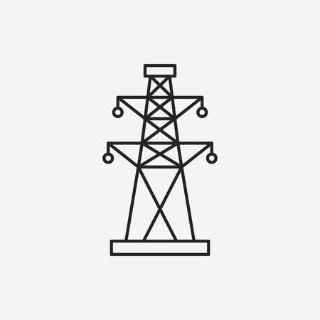pylon: Electric Tower line icon Illustration