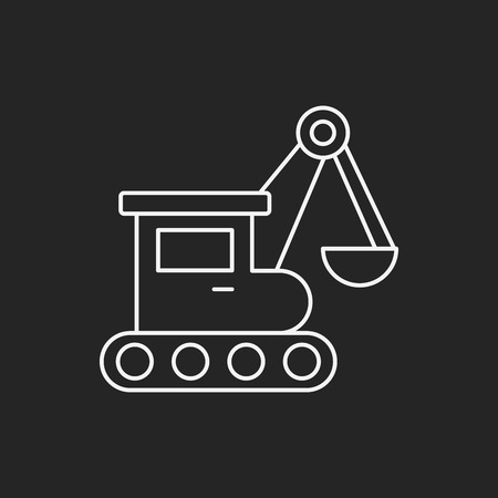 fast driving: truck line icon Illustration