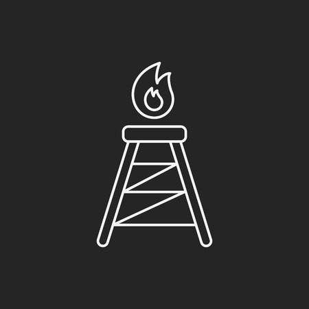 powerlines: Electric Tower line icon Illustration