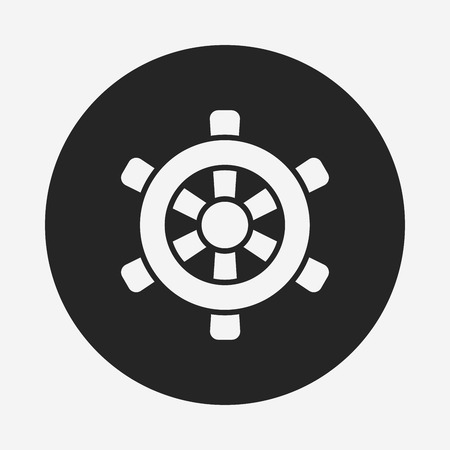 rudder: Rudder icon Illustration