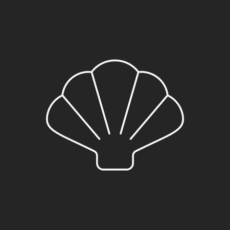 manos logo: Icono de la línea Shell