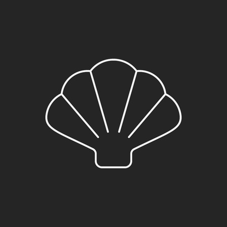 animal logo: Shell line icon