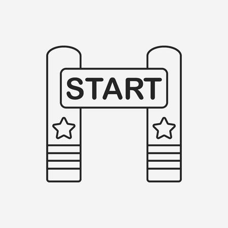 start line: start line line icon