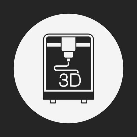 digital printing: 3D printing icon