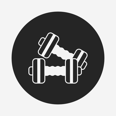 hand with dumbbells: Dumbbell icon