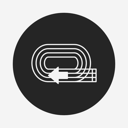 runaway: Icono de la pista del patio Vectores