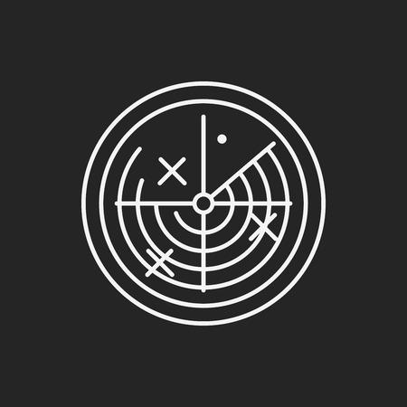 logo ordinateur: Icône de la ligne de radar Illustration