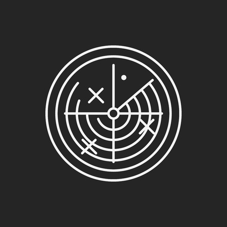 round logo: Radar line icon