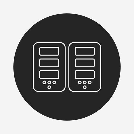 host: Host computer line icon