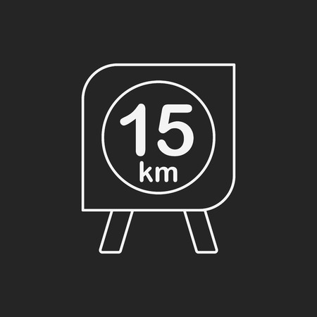 racing sign: marathon board line icon Illustration