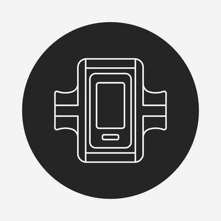 armband: Sports armband line icon