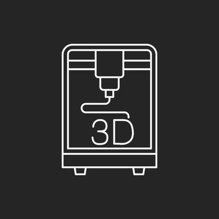 3D printing line icon Stock Vector - 45141161