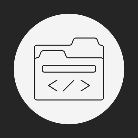 feature films: media file line icon