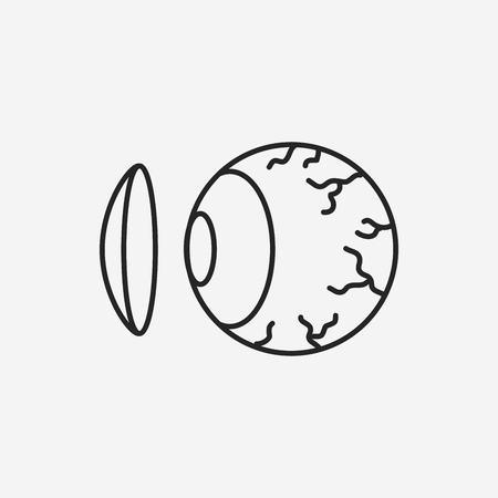 lentes de contacto: Lentes de contacto icono l�nea Vectores