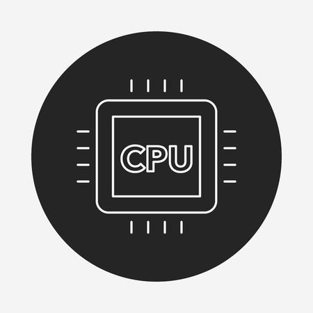 cpu: cpu line icon