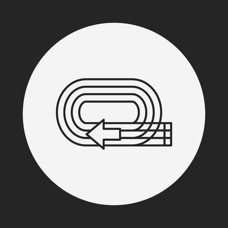 to strive: Playground track line icon Illustration