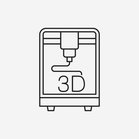 3D printing line icon Stock Vector - 45147984