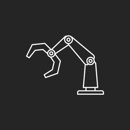 power shovel: Backhoes line icon