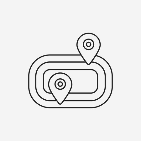 contend: Playground track line icon Illustration