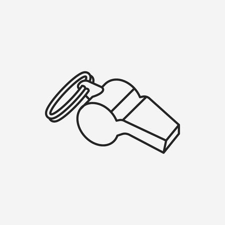 whistle line icon