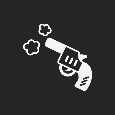 gun shot: gun icon Illustration
